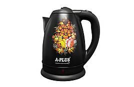 Чайник электрический из нержавеющей стали А-Плюс 2142 2л, 2кВт
