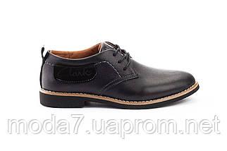 Підліткові туфлі шкіряні весна/осінь чорні Yuves М6, фото 2
