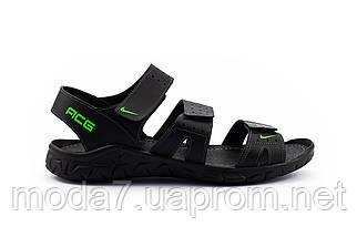 Мужские сандали кожаные летние черные Yuves C21, фото 3