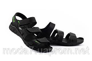 Мужские сандали кожаные летние черные Yuves C21, фото 2