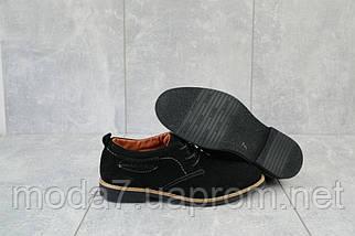 Подростковые туфли замшевые весна/осень черные Yuves М6, фото 3