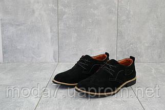 Подростковые туфли замшевые весна/осень черные Yuves М6, фото 2