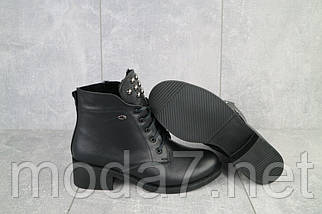 Женские ботинки кожаные зимние черные Sezar 13k, фото 2
