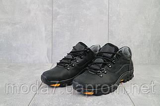Мужские кроссовки кожаные весна/осень черные Yuves 559, фото 2