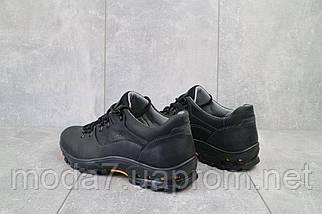 Мужские кроссовки кожаные весна/осень черные Yuves 559, фото 3
