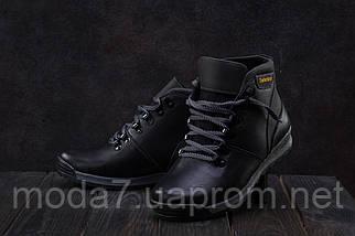 Подростковые ботинки кожаные зимние черные-серые Brand T2, фото 2
