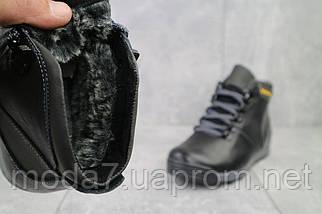 Подростковые ботинки кожаные зимние черные-серые Brand T2, фото 3