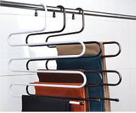 Вешалка многоуровневая металлическая для брюк, 41см