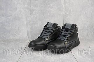 Мужские ботинки кожаные зимние черные Bastion 18082ч, фото 2