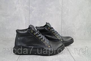 Мужские ботинки кожаные зимние черные Bastion 18082ч, фото 3