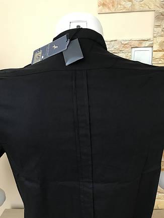 Черная рубашка с коротким рукавом Black Stone стойка, фото 2