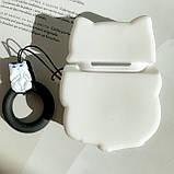 Чохол силіконовий для бездротових навушників Apple AirPods 2 Cat with fuck, Білий, фото 3