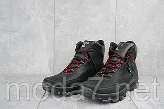 Мужские ботинки кожаные зимние черные-красные Gepard 222, фото 2
