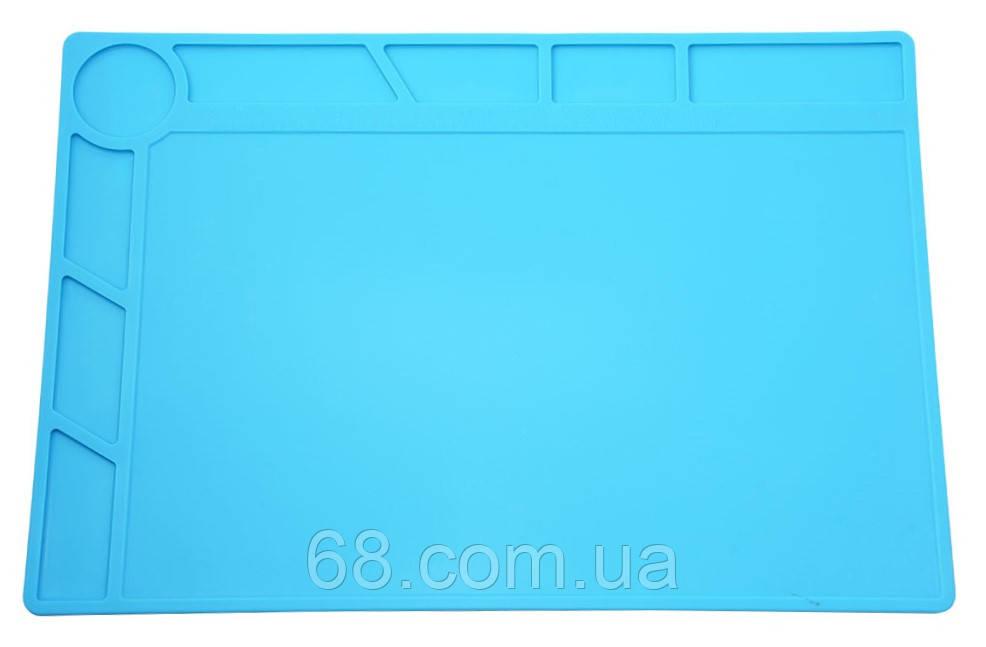 Силиконовый коврик 34х23 см для пайки мобильных телефонов Силіконовий килимок Мат Средний