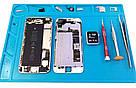 Силиконовый коврик 34х23 см для пайки мобильных телефонов Силіконовий килимок Мат Средний, фото 3