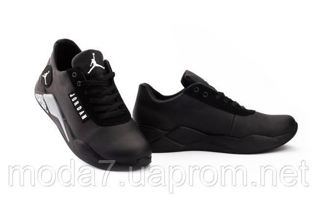 Мужские кроссовки кожаные весна/осень черные Lions JD, фото 2