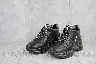 Женские кроссовки кожаные зимние черные Onward 622, фото 2