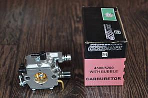 Карбюратор на бензопилу 4500/5200 с подкачкой