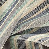 Мебельная ткань в полоску для обивки Хай Лайн Сандек (High Line Sundeck) голубого цвета, фото 3