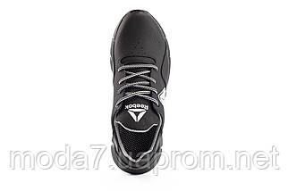 Мужские кроссовки кожаные весна/осень черные CrosSAV 317-ч-ч, фото 2