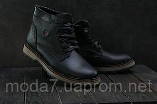 Мужские ботинки кожаные зимние черные Brand Б-27, фото 3