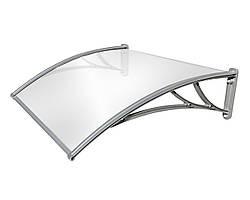 Дополнительная секция к козырьку TanDem 1500х930х280 мм серебристый с монолитным поликарбонатом 3 мм опал SKL54-240955