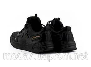 Мужские кроссовки кожаные весна/осень черные Splinter Trend 1520, фото 3