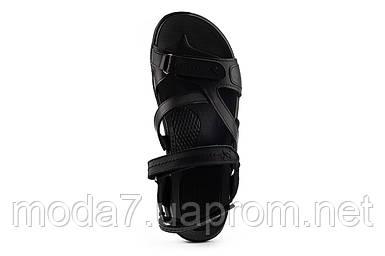 Мужские сандали кожаные летние черные StepWey 1072