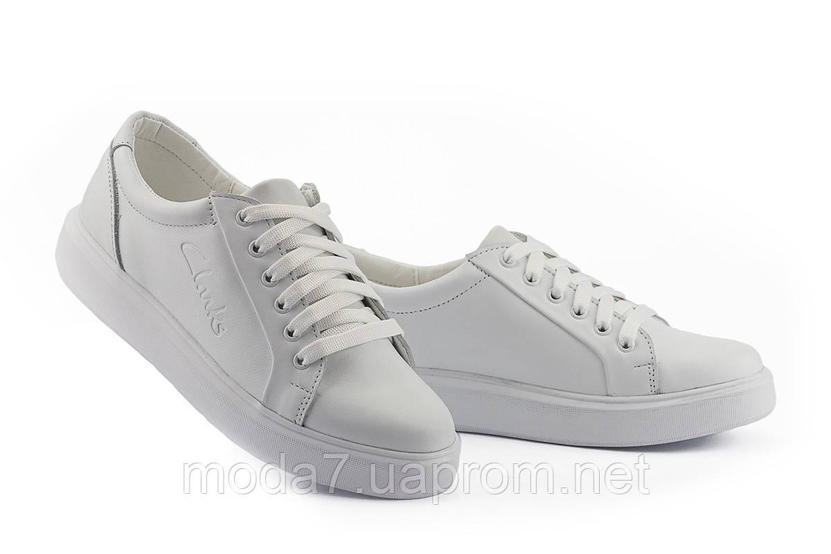 Женские кеды кожаные весна/осень белые Yuves 591 White Leather