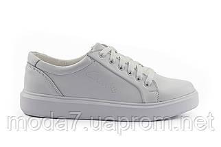 Женские кеды кожаные весна/осень белые Yuves 591 White Leather, фото 2