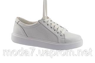 Женские кеды кожаные весна/осень белые Yuves 591 White Leather, фото 3