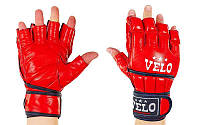 Перчатки для смешанных единоборств MMA кожаные VELO ULI-4021 (р-р S-XL, цвета в ассортименте)