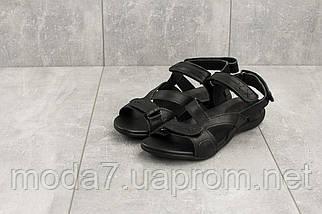 Женские сандали кожаные летние черные StepWey 7561, фото 2