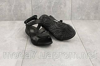 Женские сандали кожаные летние черные StepWey 7561, фото 3