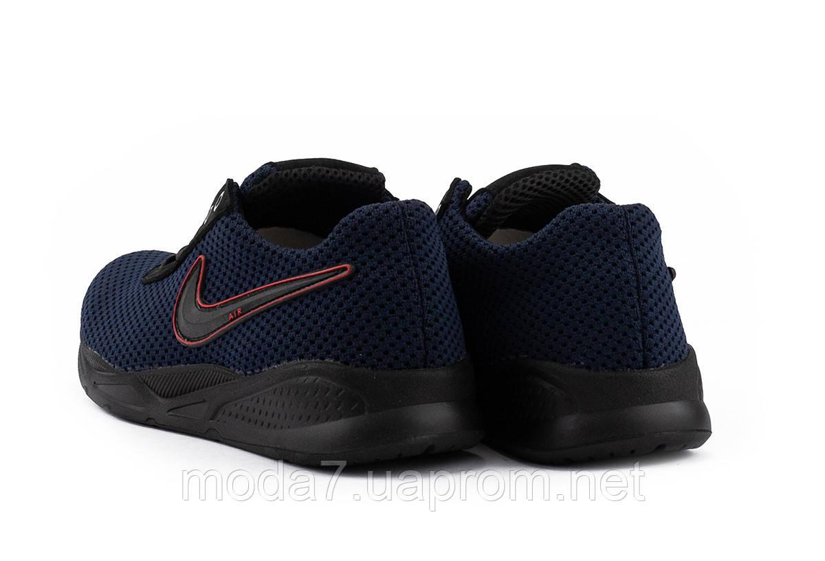 Мужские кроссовки текстильные летние синие-черные Lions NK Dark Blue