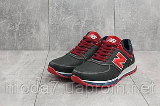 Мужские кроссовки кожаные весна/осень синие-красные CrosSAV 14, фото 2