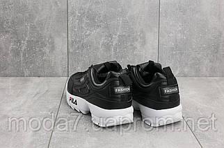 Женские кроссовки искусственная кожа весна/осень черные Classica G 3057 -4, фото 2