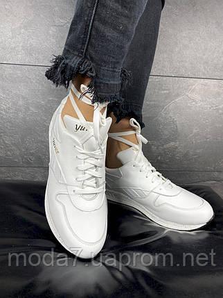 Женские кроссовки кожаные весна/осень белые Yuves R 250, фото 2