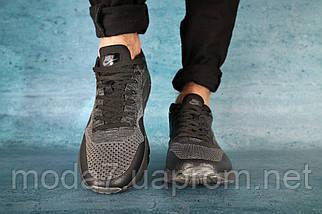 Мужские кроссовки текстильные весна/осень черные Classica А 602, фото 3