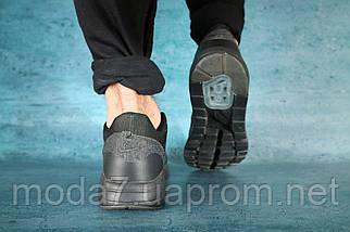 Мужские кроссовки текстильные весна/осень черные Classica А 602, фото 2