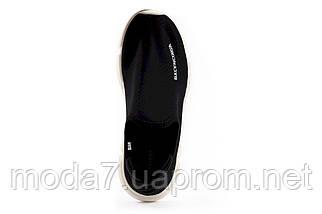 Женские кроссовки текстильные весна/осень черные-белые Classica B 2010 -1, фото 3