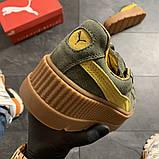 Женские кроссовки Puma Rihanna Suede Platform, женские кроссовки пума рианна сьюд (39 размер в наличии), фото 6