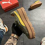 Женские кроссовки Puma Rihanna Suede Platform, женские кроссовки пума рианна сьюд (39 размер в наличии), фото 2