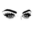 Наклейка на стіну Брови і очі (густі вії, жіночий погляд, декор в салон краси), фото 2