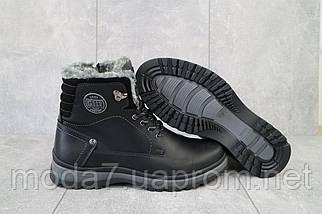 Мужские ботинки кожаные зимние черные Zangak 137 чор-кр, фото 2