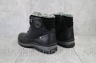 Мужские ботинки кожаные зимние черные Zangak 137 чор-кр, фото 3