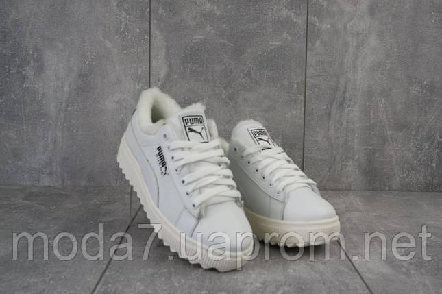 Женские ботинки кожаные зимние белые Nev-Men P бел, фото 2