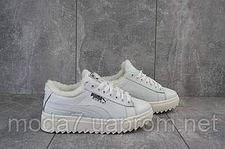 Женские ботинки кожаные зимние белые Nev-Men P бел, фото 3