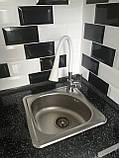 Квадратная кухонная мойка Platinum 3838B Satin 0,6мм, фото 2