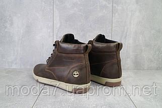 Мужские ботинки кожаные зимние коричневые-матовые Yuves 772, фото 2